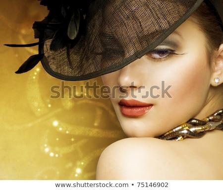 красивая девушка Vintage стиль моде портрет красивой Сток-фото © serdechny
