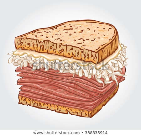 American Food Reuben Sandwich Illustration Stock photo © lenm