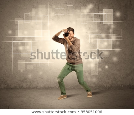 Kéz elvesz fotó izzó villanás meztelen Stock fotó © ra2studio