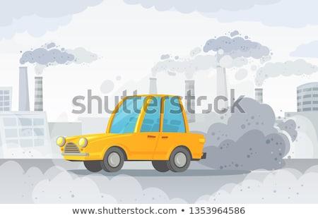 levegő · szennyezés · ipari · díszlet · sziluett · gyár - stock fotó © bluering