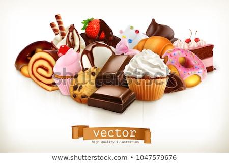 Csokoládé cukorkák cukrászda bolt édesség gyártás Stock fotó © dolgachov