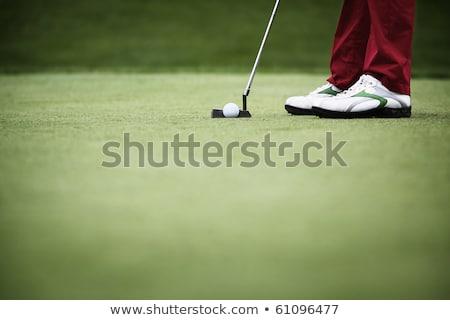 Macro jogador de golfe bola verde cópia espaço Foto stock © lichtmeister