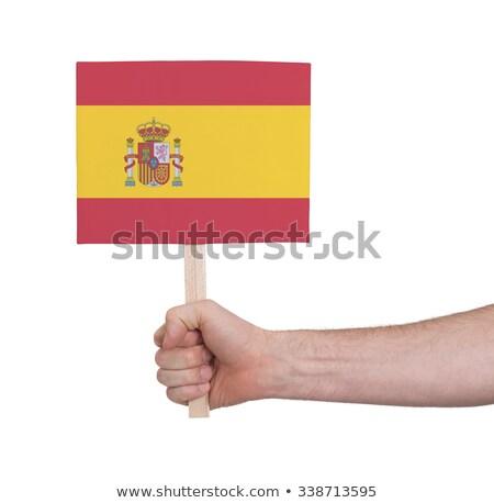 Persoon Spanje vlag kaart lippen Stockfoto © ra2studio