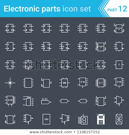 Electric and electronic circuit diagram symbols set of digital electronics, flip-flop, logic circuit Stock photo © ukasz_hampel