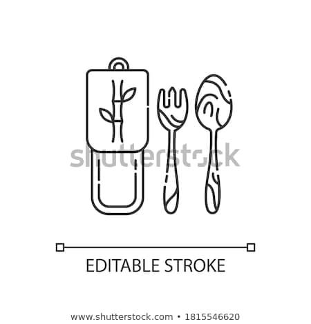 ゼロ 廃棄物 環境にやさしい 薄い 行 ストックフォト © vectorikart
