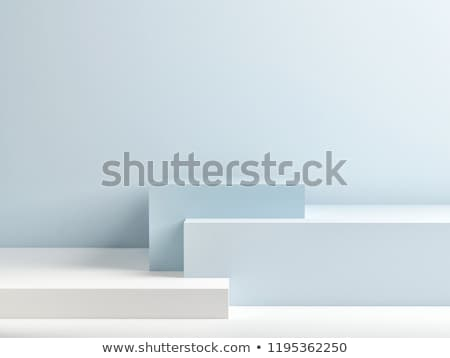 modernes · blanche · exposition · stand · 3D - photo stock © djmilic