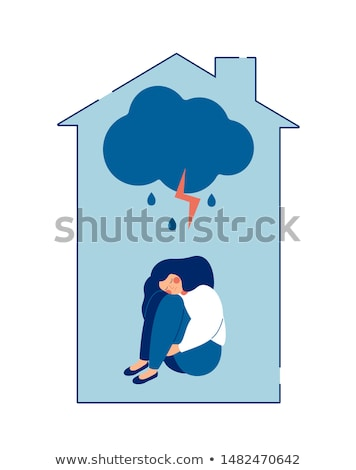 Girl Domestic Abuse Illustration Stock photo © lenm
