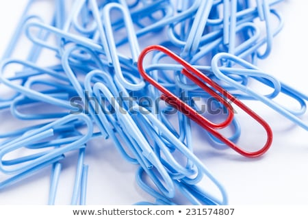 stationery colorful pins and paper clips pattern stock photo © artjazz
