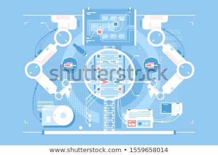 Szoba infografika technológiák virtuális valóság tudományos Stock fotó © jossdiim