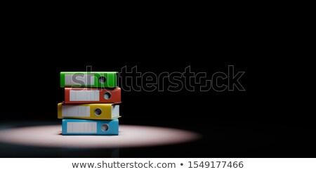 Negro colorido espacio de la copia 3d negocios Foto stock © make