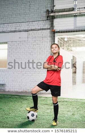 счастливым молодые успешный женщины футболист спортивных Сток-фото © pressmaster