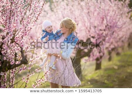 家族 写真 ママ 赤ちゃん ピンク ジャケット ストックフォト © ElenaBatkova