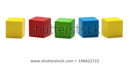 Wooden toy blocks isolated on white background Stock photo © Melnyk