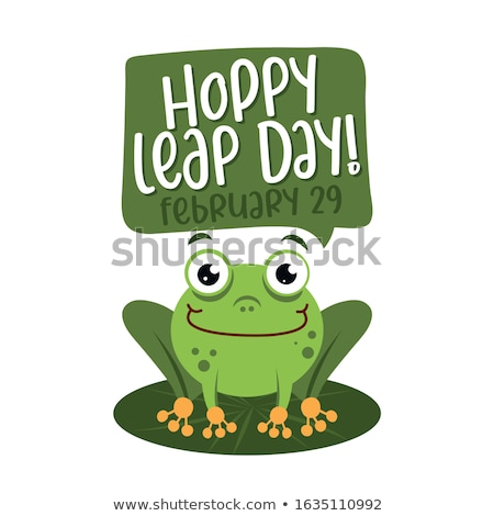 Hoppy leap day - leap year 29 February calendar page Stock photo © Zsuskaa