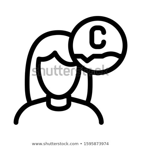 Mujer ácido icono ilustración vector Foto stock © pikepicture