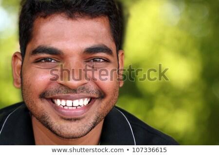 Alegre masculino restolho alegremente Foto stock © vkstudio
