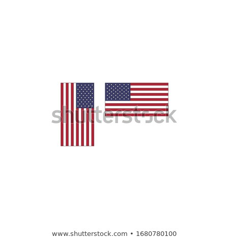 Flag of the United States of America in vertical and horizontal position, Stock Vector illustration  Stock photo © kyryloff