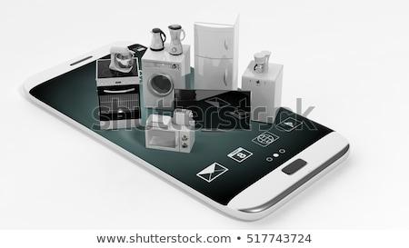 Mutfak aletleri akıllı ev toplama ayarlamak Stok fotoğraf © robuart