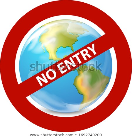 Poster design for coronavirus theme with no entry sign Stock photo © bluering