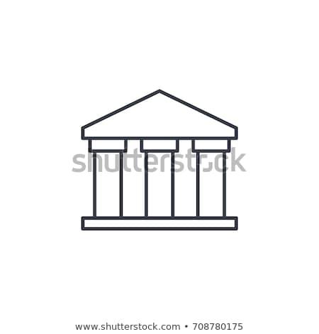 Grego colunas edifício ícone vetor Foto stock © pikepicture