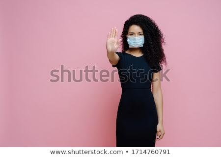 19 viralen Krankheit Foto ethnischen Frau Stock foto © vkstudio
