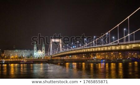 Brug rivier donau nacht verlichting Boedapest Stockfoto © artjazz