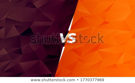 comparison or battle versus screen in low poly style Stock photo © SArts