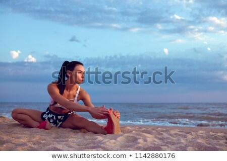 девушки спорт пляж воды морем Сток-фото © fxegs