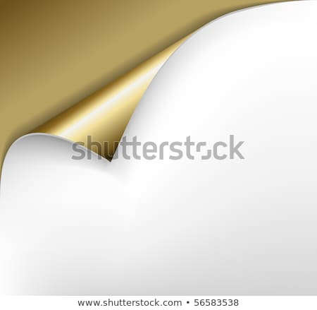 Golden paper with a curl and back light Stock photo © orson