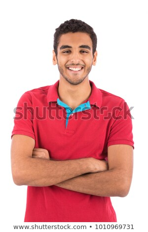 Egipcjanin człowiek arabskie szczęśliwy funny Zdjęcia stock © poco_bw