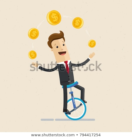 money juggler Stock photo © pkdinkar