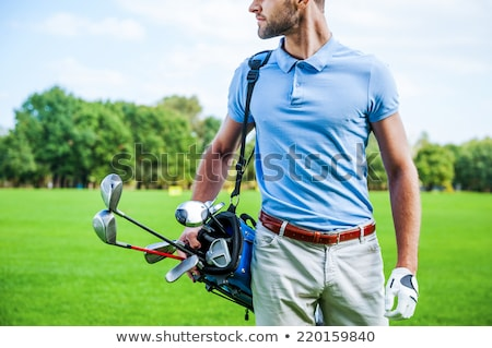 Balle de golf polo jaune golf signe tag Photo stock © jamdesign