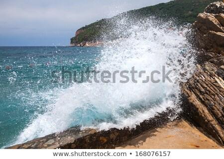 groot · zeegolf · wal · hemel · water · textuur - stockfoto © frankljr