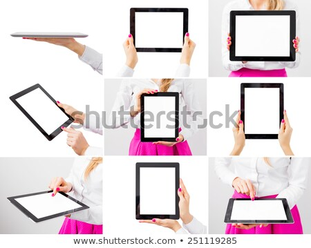 womans hands holding electronic book reader stock photo © andreykr
