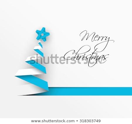 簡單 向量 聖誕節 裝飾 紙 白 商業照片 © orson