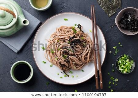 Comida bambu macro delicioso Foto stock © zkruger