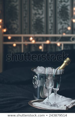 Champagne in bucket with glasses ready for New Years  Stock photo © Sandralise