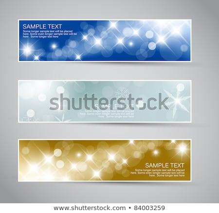 Conjunto vetor natal ano novo banners 2012 Foto stock © orson