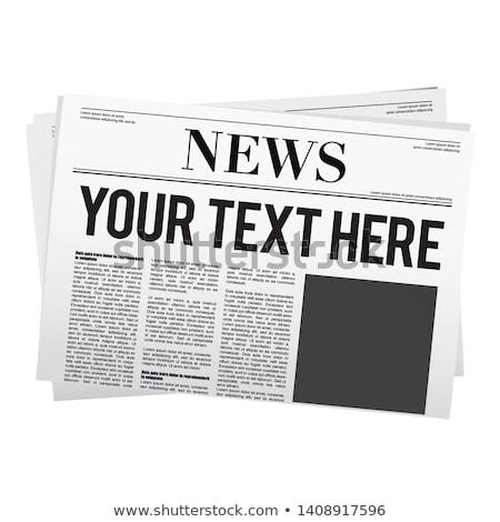 újság főcímek közelkép Stock fotó © devon