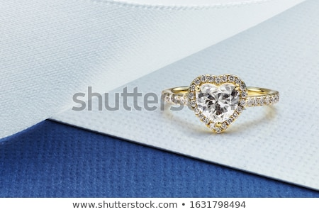 a gold and diamond ring Stock photo © njaj