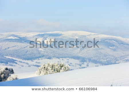 hegyek · szép · cseh · ősz · vidék · fű - stock fotó © phbcz