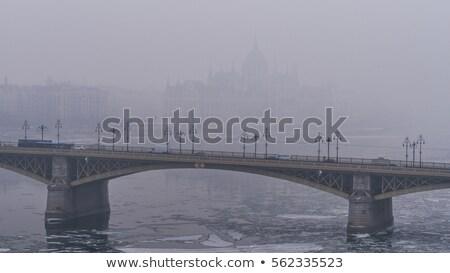 Szmog magyar parlament levegő Budapest Magyarország Stock fotó © Spectral