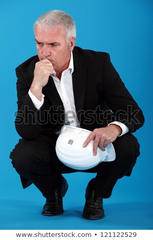 Engineer brooding over a problem Stock photo © photography33