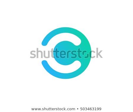C harfi pembe okul yazı model grafik Stok fotoğraf © mariephoto