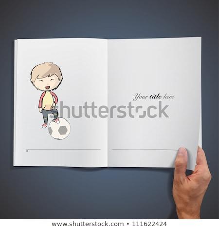 Notebooka piłka nożna tekstury książki sportu ramki Zdjęcia stock © Archipoch