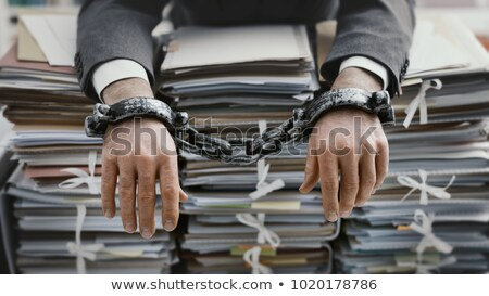 Man overwhelmed by files Stock photo © photography33