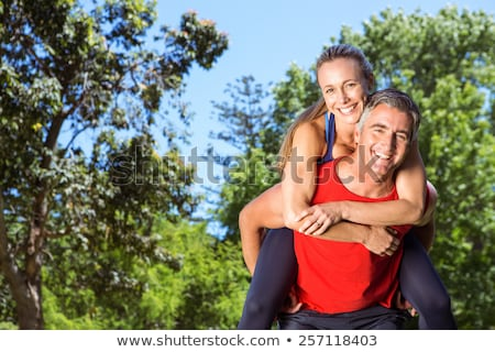 Mature fit couple exercising together in the countryside Stock photo © photography33