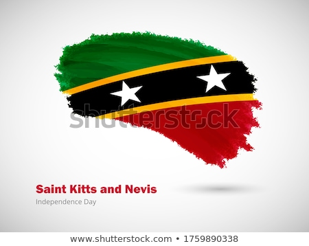 Grunge Flag Saint Kitts and Nevis Stock photo © HypnoCreative