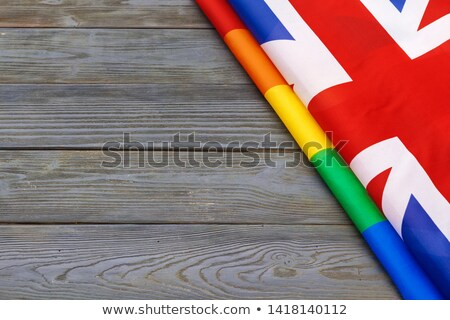 Gran bretaña gay bandera grande tamaño orgulloso Foto stock © tony4urban