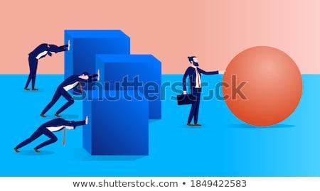 Man bal landschap wereld kunst zakenman Stockfoto © mariephoto